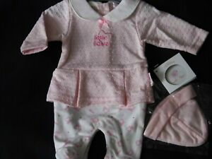 PREMATURE BABY GIRL ALL IN ONE DRESS SET WITH HAT
