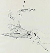 Signed Wangenheim - Hands Violin Pencil