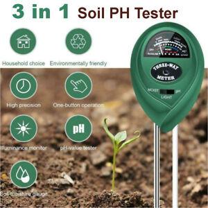 3 in 1 Soil PH Tester Water Moisture Test Meter Kit For Garden Plant Testing AU