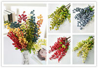 5 Colors Artificial Fake Berry Silk Flower Leaf Home Party Wedding Garden Decor