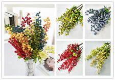 5 Colors Artificial Fake Berry Silk Flower Leaf Home Wedding Artificial Flowers