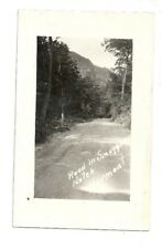 ROAD TO SMUGGLERS NOTCH, VERMONT VINTAGE REAL PHOTO POSTCARD