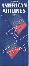American Airlines timetable 1938/08/01
