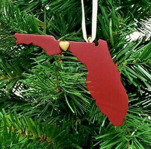FLORIDA STATE SEMINOLES STATE HEART ORNAMENT TUSCALOOSA 4''