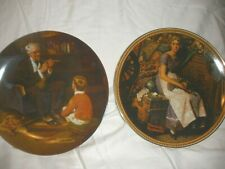 "Norman Rockwell Knowels Plate #454 ""Dreaming in the Attic� & ""The Tycoon""#18244"