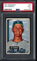 1951 BOWMAN #36 JOE DOBSON CHICAGO WHITE SOX - PSA EX+ 5.5