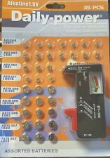 2PACKS WATCH BATTERIES WITH TESTER 35 PIECE SET 70 BATTERIES TOTAL