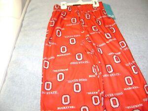 OHIO STATE BUCKEYES Pajama Pants All-Over Print SIZE 8 Small BOY OR GIRL NEW