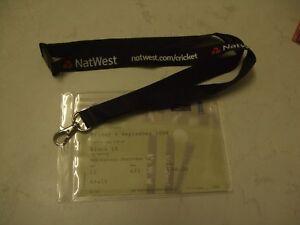 2009 England v Australia ODI (Natwest Series) ticket + map & holder