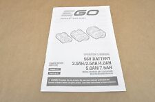 EGO Power Plus Battery 56 Volt Battery Operator's Manual 48 Pages BA1120 BA1400