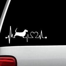 Basset Hound Heartbeat Lifeline Monitor Dog Decal Sticker Pet Gift Art K1062
