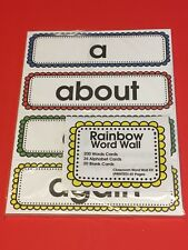 200 Words & Alphabet Cards - Rainbow Classroom Word Wall Kit (PRINTED) 65 Pages