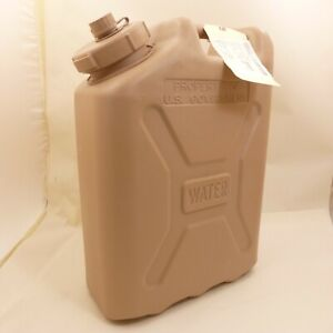 Military Water Jerry Can 5-Gallon Tan Scepter Style Jug Camping Prepper Storage