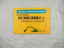 KOMATSU PC300, 300LC-2 OPERATION AND MAINTENANCE MANUAL