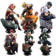 Pack 6 Figurines - Sasuke Gaara Kakashi Sakura Naruto Anime Jouet Collection