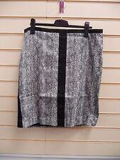 Skirt Black Grey Size 20 Kaleidoscope Snake Print Pencil Party