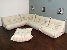 Ligne Roset TOGO Set-2x2 seat, 1 Seat, corner, pouffe, new Beige leather!