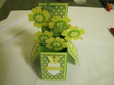 Happy Birthday Sping Flower Pop Up Box Mothers Day/Love Handmade Card Kit Lot(4)