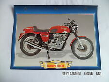 CARTE FICHE MOTO TRIUMPH LEGEND   1984