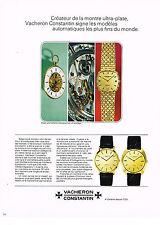 PUBLICITE 1968   VACHERON CONSTANTIN   montres