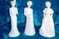 BONE CHINA FIGURINES - SET OF 3
