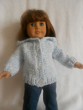 """Hooded Cardigan for American Girl or any 18"""" doll"""