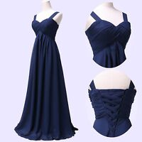 Women Long Maxi Evening Bridesmaid Formal Prom Party Dress Ball Gown 6-10-12-18+