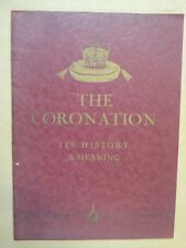books THE CORONATION its history + meaning, Ernest Shoert
