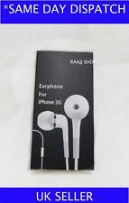 IN EAR HEADPHONE EARPHONES WITH MIC FOR IPHONE 4 4G 4GS UK SELLER