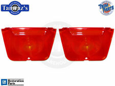 62-64 Chevy II Nova Tail Light Lamp RED Back Up Lens w/ Gasket Pair USA MADE