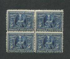 1907 US Stamps #330 5c Mint Hinged Fine Block of 4 Jamestown Exposition Issue