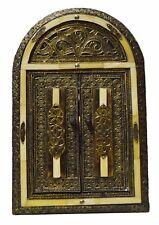 Moroccan Wall Mirror W/Doors Camel Bone Handmade Mediterranean Decor MED Natural