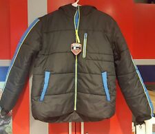 NWT! BOY'S PROTECTION SYSTEM WINTER HOODED BLACK JACKET SIZE 14/16