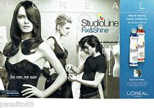 PUBLICITE ADVERTISING  046  2006  Spray fix & Shine de l'oréal (2p) Studio line