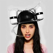 Beer Soda Drinks Guzzler Helmet & Drinking Hat Straw Hat Black - Party Hat LE