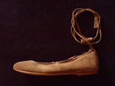MADEWELL Womens 8.5M~Olive-brown Suede~Lace-up~NWOT~Ankle Ties w Tassles