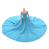 Blue Party Doll Dress With Flowers Clothes Gown For  Kids Gift S.AU