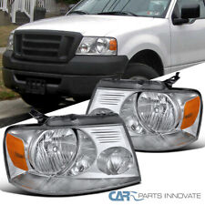 For Ford 04-08 F150 Lincoln 06-08 Mark LT Clear Headlights Head Lamps Left+Right