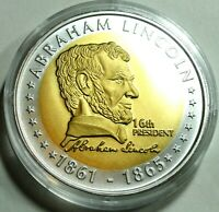 Medaillen W.- JEFFERSEN CLINTEN  & Abraham Lincoln 2x mit Kapsel st/ unz