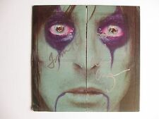 ALICE COOPER 2x SIGNED FROM THE INSIDE ALBUM VINYL RECORD LP DC/COA INSCRIPTION