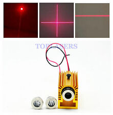 Focusable 30mW 650nm red laser diode dot line cross module led avec dissipateur de chaleur 3V-5V