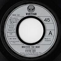 "Status Quo – Whatever You Want Vinyl 7"" Single UK 6059 242 1979"