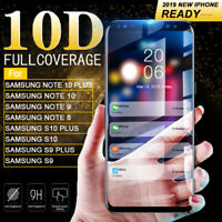 6D Full Tempered Glass Screen Protector For Samsung S10 S9 S8 Plus Note 10 9 8