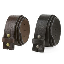 """One Piece Genuine Full Grain Leather Belt Strap Snap on 1-1/2"""" wide Made in USA"""