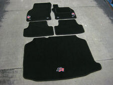 Car Mats in Black to fit Seat Leon FR RHD (5F / 2012 on) + FR Logos + Boot Mat