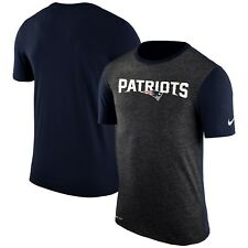 New England Patriots NFL Color Dip Wordmark Dri-FIT S.S. T-Shirt XL/Char/Navy