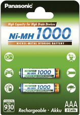 Panasonic High Capacity rechargeable AAA battery Ni-MH 1000mAh 2pk