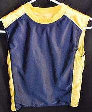 Boys Reversible Sleeveless Basketball Shirt in Blue and Yellow Size Medium