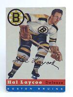 1954-55 Hal Laycoe #38 Boston Bruins Defense TCG Topps Ice Hockey Card H382
