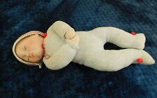 """Vintage Bisque and Cloth 14"""" Baby Doll with Pouty Lips"""